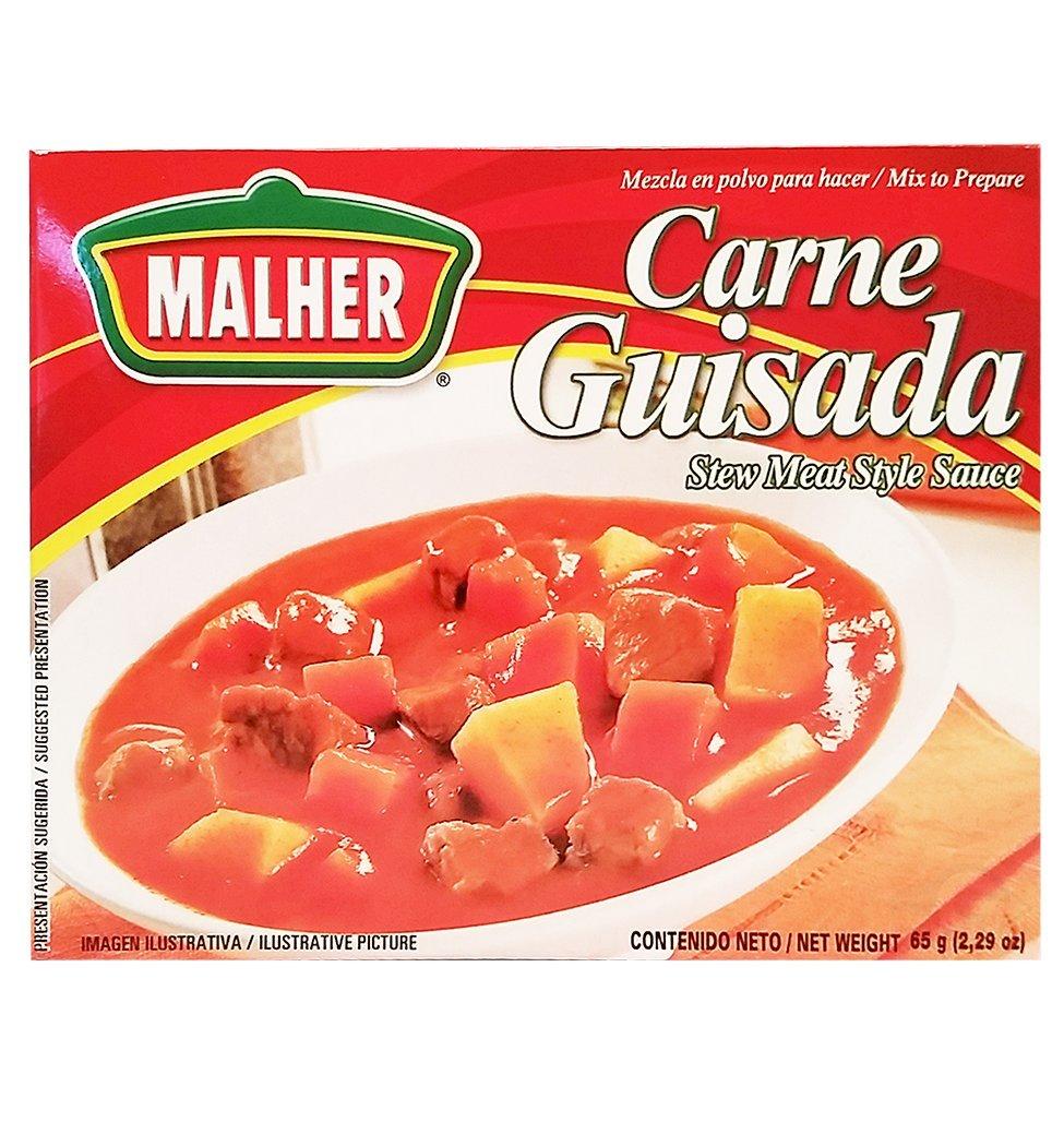 Malher Stewed Meat Mix 2.29 oz - Carne Guisada (Pack of 6)