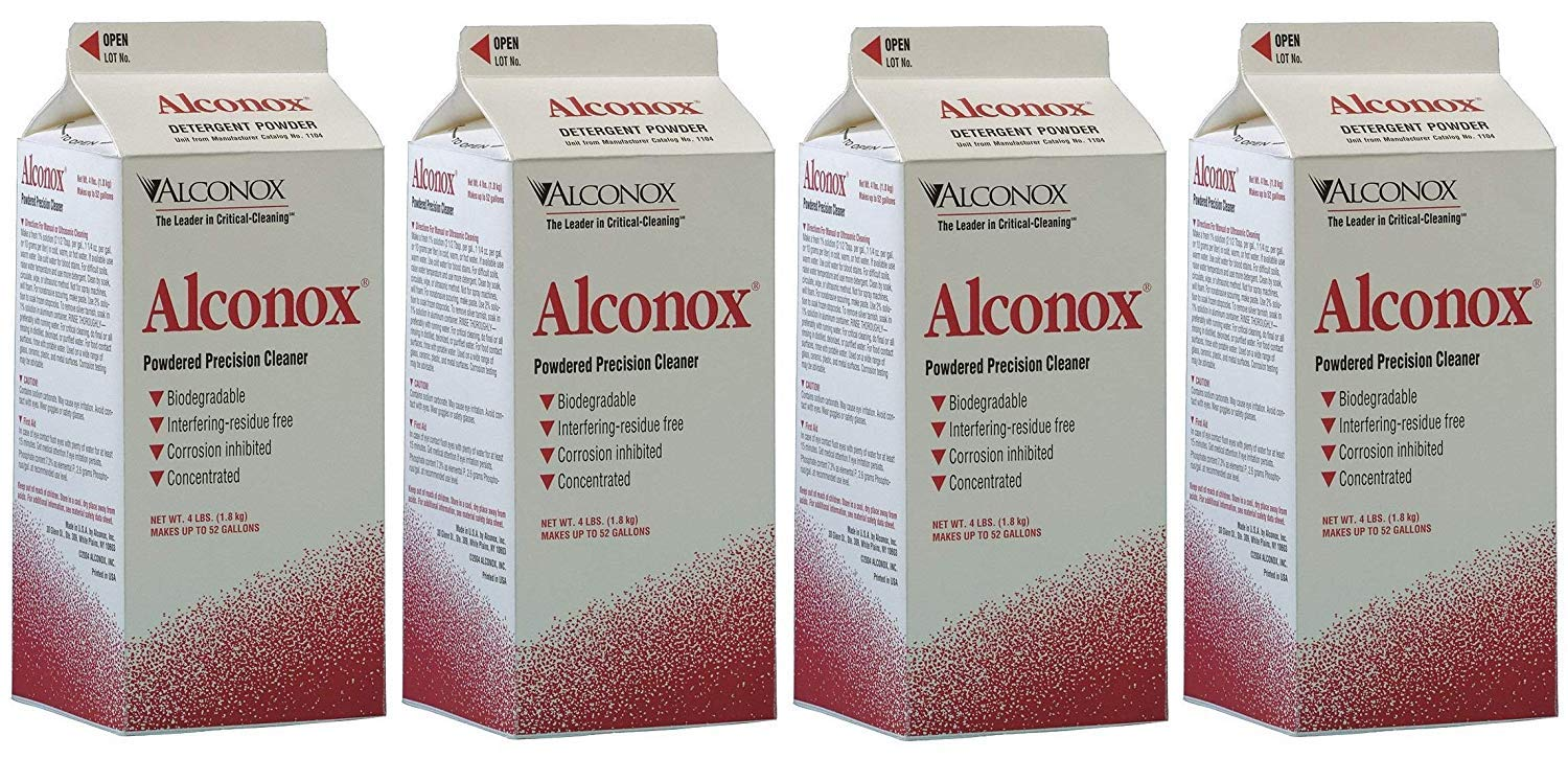Alconox Detergent Cleaning Concentrate 4 lb. Container (4-Pack)