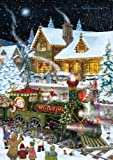 Santa's Train Christmas Card Advent Calendar