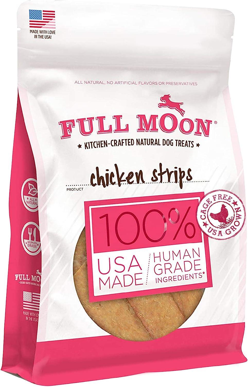 Full Moon All Natural Human Grade Dog Treats, Chicken Strips