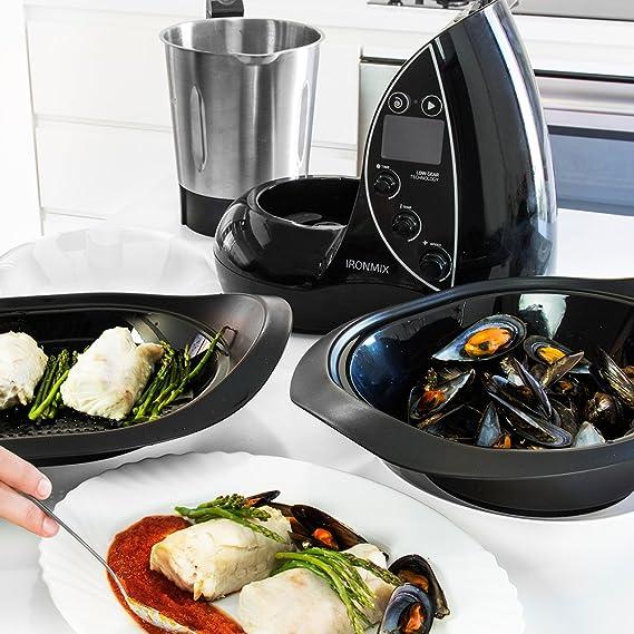 Cecotec Robot de Cocina Multifunción IronMix. Capacidad de 3,3l, Temperatura hasta 120ºC, 12 Velocidades + Turbo, Programable hasta 60 min, Incluye Recetario, 1500W 46x33x52cm: Amazon.es: Hogar