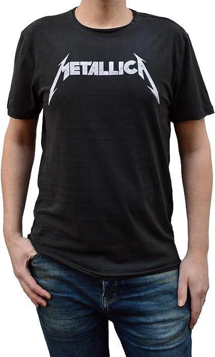 Amplified Camiseta con logo de Metallica para hombre XX-Grande Carbón: Amazon.es: Ropa y accesorios