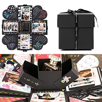 EKKONG Creative Explosion Box DIY Handmade Photo Album Scrapbooking Gift For Birthday Party And