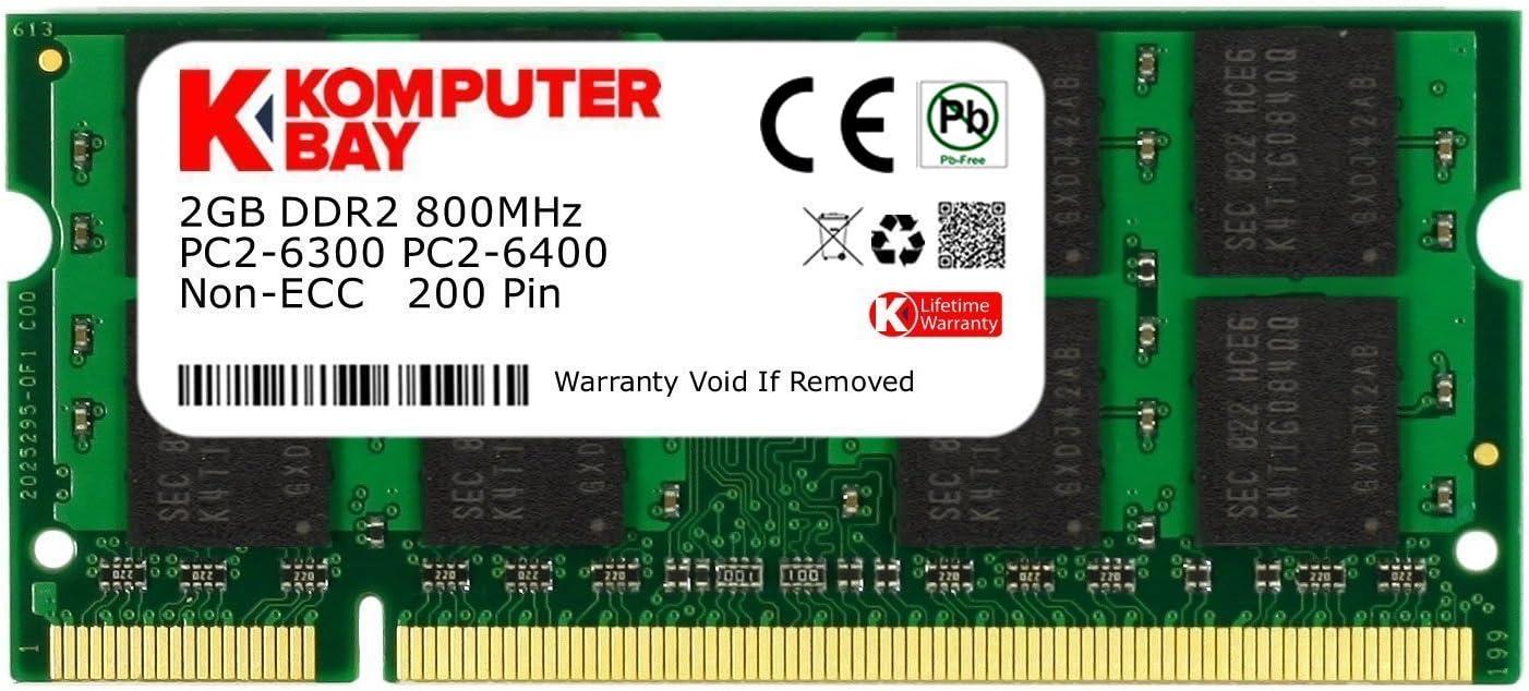 Komputerbay - Memoria SODIMM para portátiles (DDR2, 800 MHz, PC2 ...