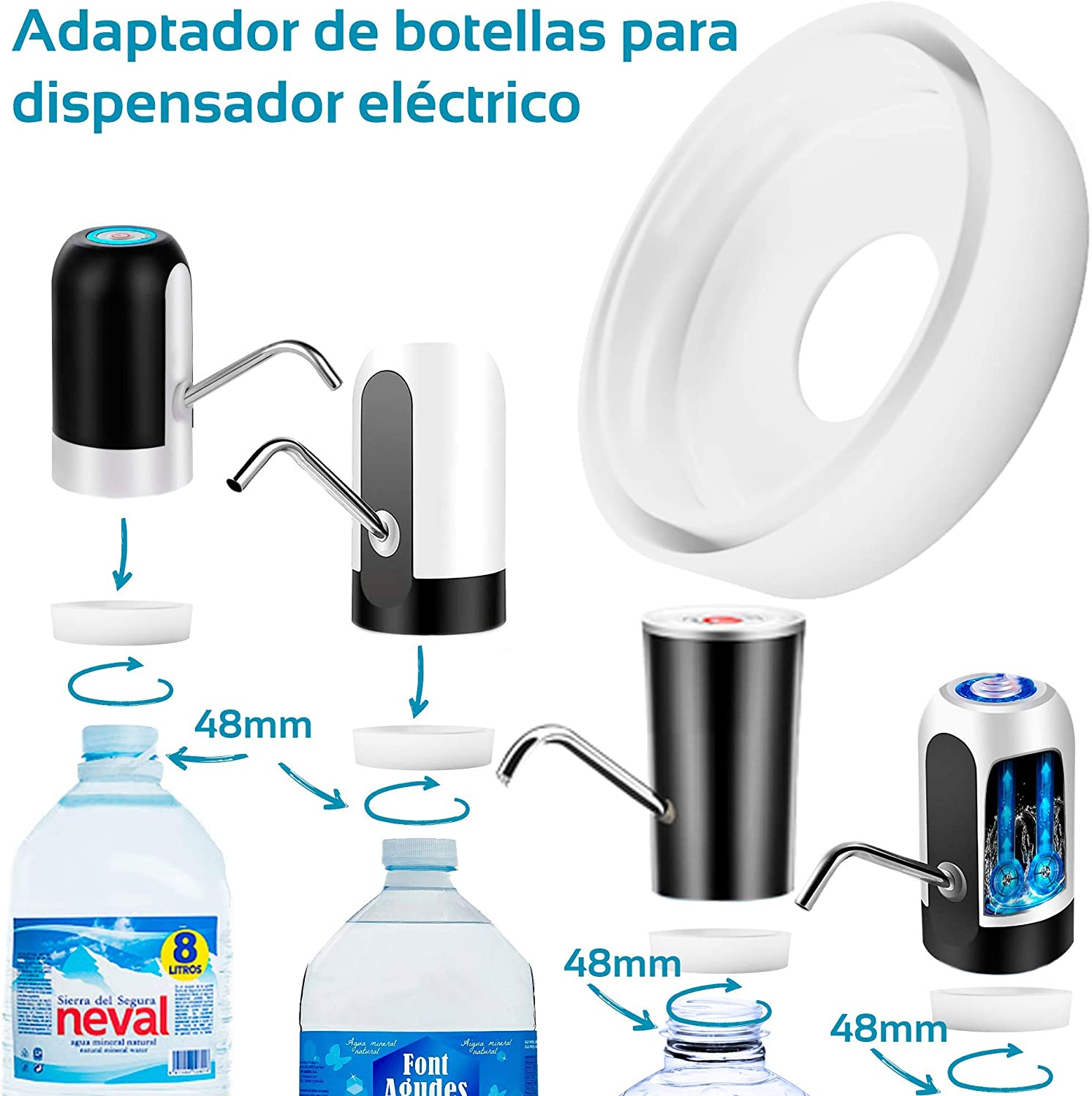 MovilCom® - Adaptador de Botella para dispensador de Agua ...