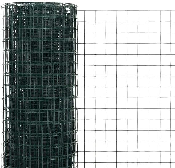 Festnight Malla de Alambre para Jardin de Acero Recubrimiento PVC con Mallas Cuadradas 10x0,5 m Verde: Amazon.es: Hogar