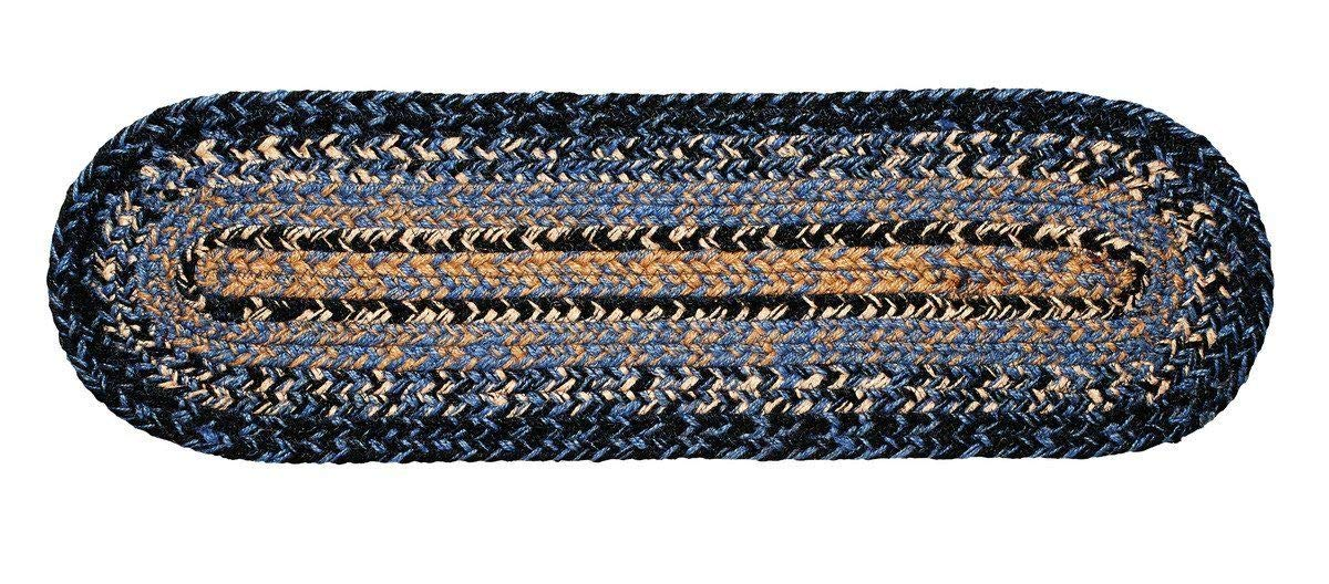 Multicolored CWI Gifts BlackBerry Star Braided 8 by 28 Oval Stair Tread