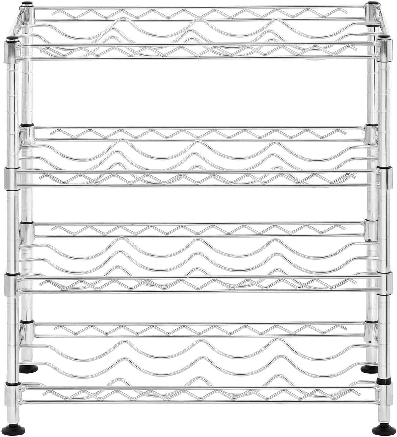 Royal Catering Range-Bouteille Casier /À Bouteilles Porte Range Bouteille /Étag/ère M/étallique Modulable Meuble Rangement Vin M/étal RCMR-470P14 45 x 30 x 45 cm, 200 kg, 4 Tablettes, Rev/êtement /Époxy