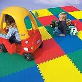 Sandal Stars Kids Large Soft Foam EVA 4 Tiles 16sqft MULTICOLOUR Play Floor Mat Interlocking Jigsaw Puzzle