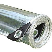 Waterdicht Zeildoek Transparant Dekzeilen,Dik 0,35 mm PVC zeil met Oogjes,Regendicht Sun Protection Tuinafdekkingen…