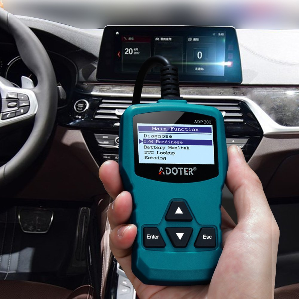 Adoter OBD II Scanner Classic Enhanced Universal Car Engine Fault Code Reader,Clear existing Trouble Code,CAN Diagnostic Scan Tool