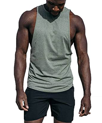 e47b04b0d6088 Barbell Apparel Men s Vented Tank Top - Green -  Amazon.co.uk  Clothing