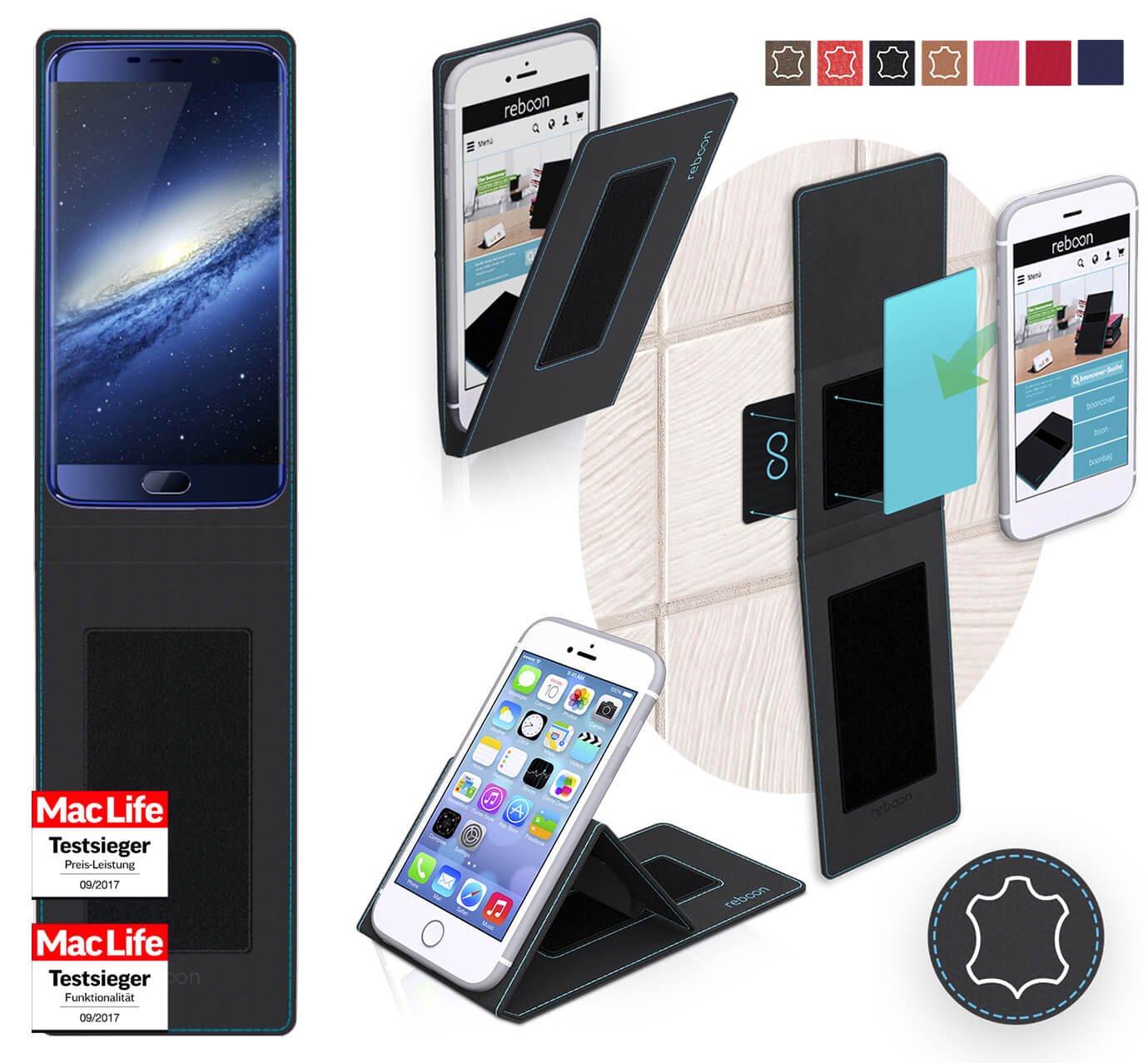 reboon Funda para Elephone S7 Mini | in Negro Cuero ...