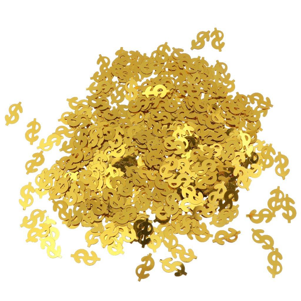 SM SunniMix 30g Metallico Spruzza Noi Decorazioni Simbolo di Dollaro Tavolo Confetti Sparpaglia Festa