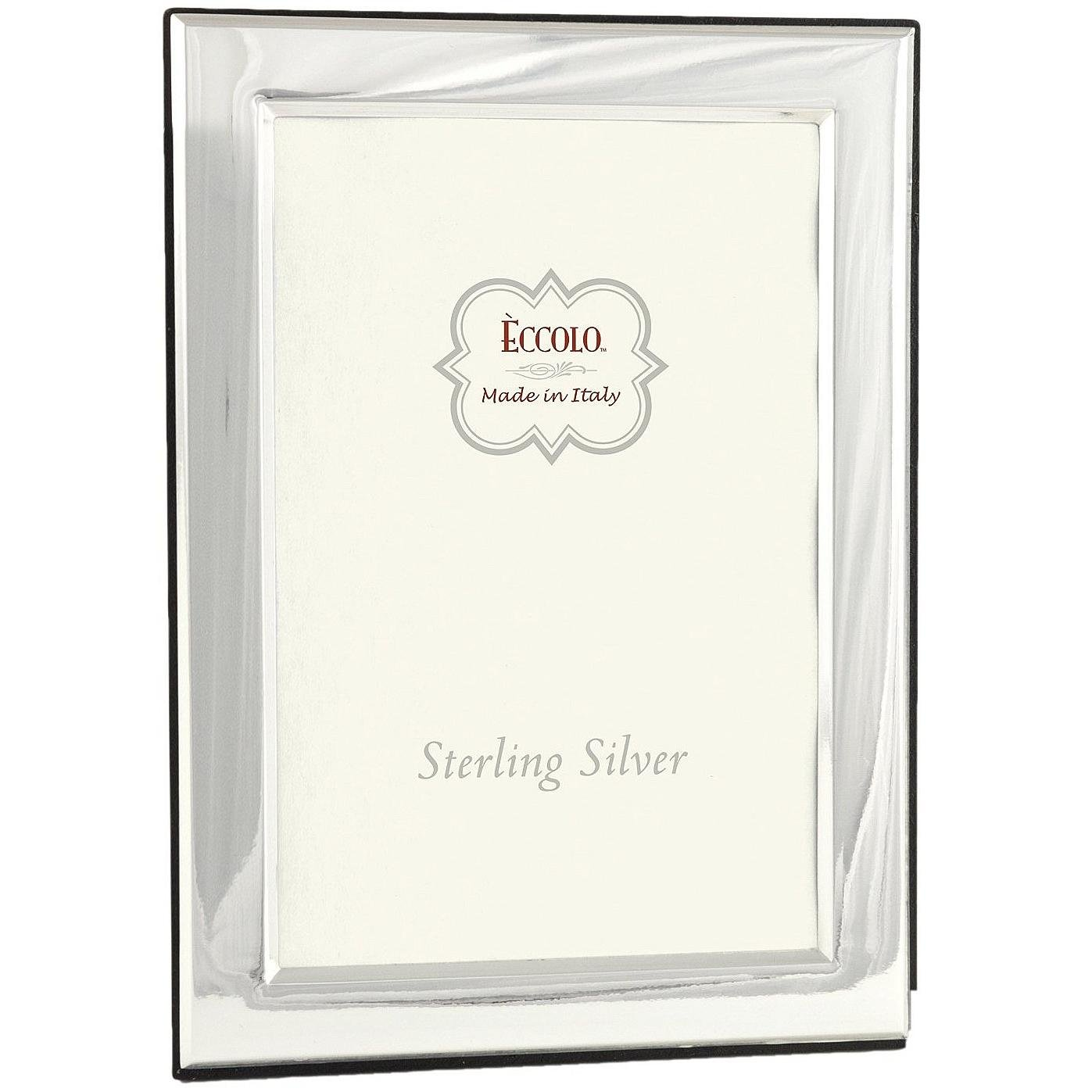 Eccolo Sterling Silver Frame, 5 by 7-Inch, Smooth Square Corners by Eccolo