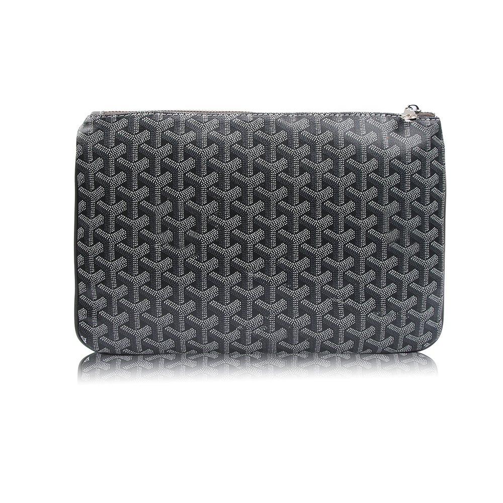 Stylesty Designer Clutch Purses for Women, Pu Envelope Fashion Clutch Bag, Women Handbag (Large, Dark Grey)