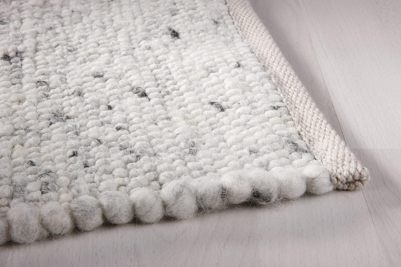 Taracarpet Moderner Landhaus Landhaus Landhaus Teppich Handwebteppich Fjord aus hochwertiger Schurwolle beidseitig legbar echte Handarbeit Farbe 1 Natur meliert 070x140 cm B0731899X8 Teppiche bd7714