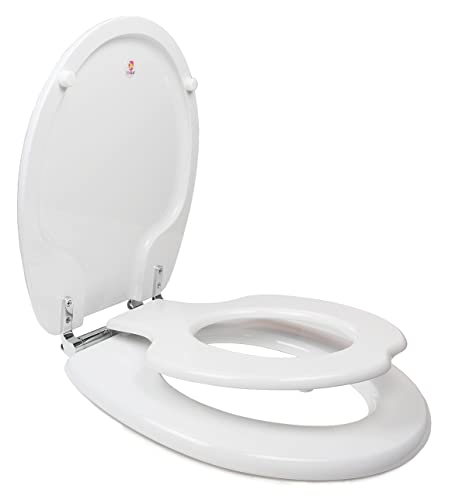 Swell Topseat Tinyhiney Potty Round Toilet Seat Adult Child W Slow Close Chromed Metal Hinges Wood White Gmtry Best Dining Table And Chair Ideas Images Gmtryco