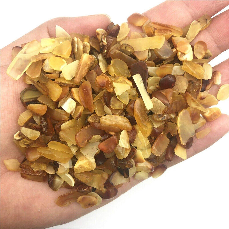 JCNL 50g 8-12mm Chips de Piedra a Granel de ámbar Natural Cristal de curación de muestras Decoración Cristales de Cuarzo Natural