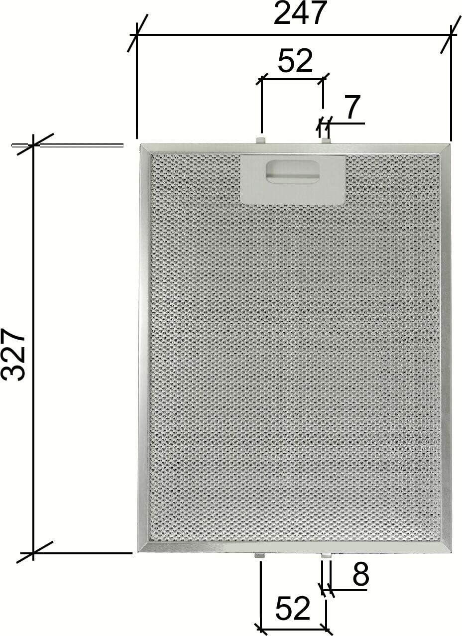 Kit de 2 unidades. Filtros de aluminio para campanas Turboair 247 x 328 x 9 mm.: Amazon.es: Hogar