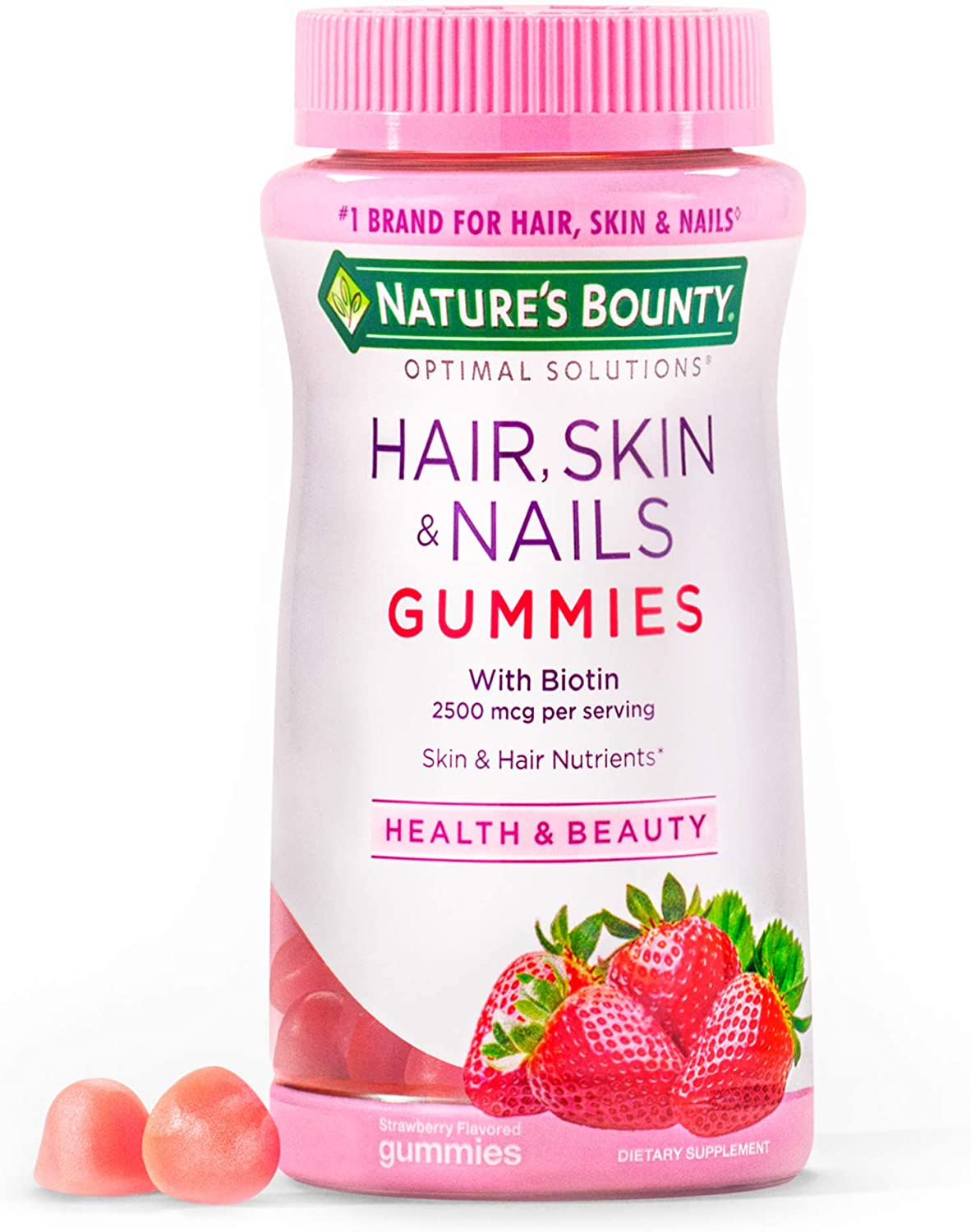 Amazon.com Nature's Bounty Optimal Solutions Hair, Skin and Nails ...