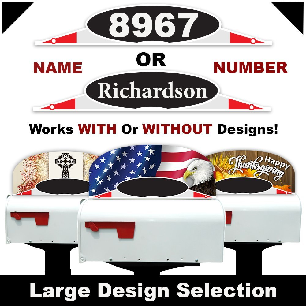 CIT Group Decorative Mailbox Name or Initial Plaque, Reflective Name Plate, Mailbox Topper Decoration. Self Stick Mailbox Initial Marker!