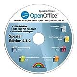 Open Office Spezial-Edition für Windows 10-8-7-Vista-XP   PC-Software mit 15.000 Vorlagen, 1.000 Schriften und PDF Handbuch   Alternative zu Microsoft Office   Kompatibel mit Word, Excel und PowerPoint