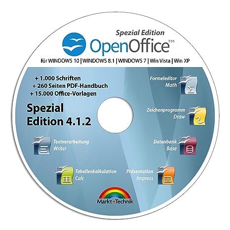 Open Office Spezial-Edition für Windows 10-8-7-Vista-XP | PC ...