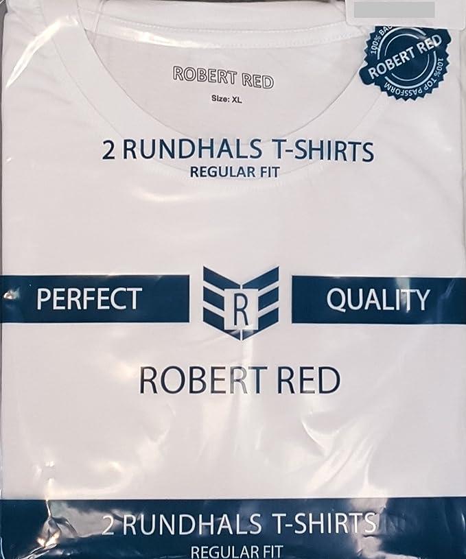 Robert Red Herren 2 T-Shirt Doppelpack Regular Fit mit Rundhals: Amazon.de:  Bekleidung