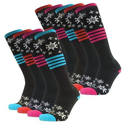 Ski Socks, Gmark Women's Thick Sports Snowboard Cotton Socks Gift Socks 1,2,3,6,9 Pairs