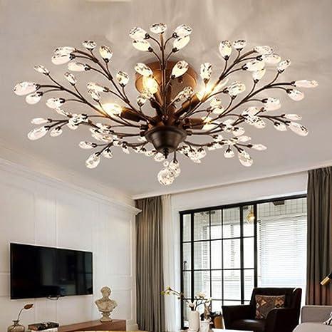 Diy Family®Modern Crystal Lámpara de techo LED, Lámpara de ...