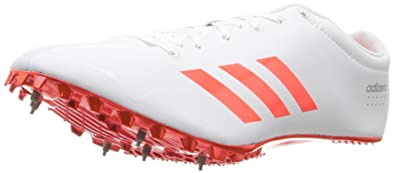 los angeles 032cb 682a9 adidas Adizero Prime SP Track Shoe, White Infrared Metallic Silver, 5.5