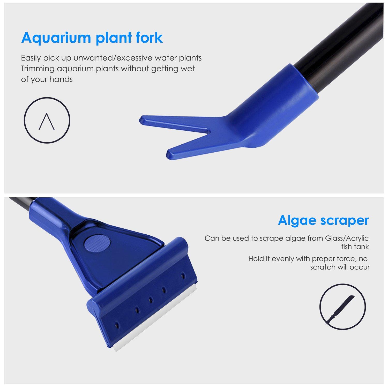 bedee Aquarium 6 en 1 Kit de Nettoyage, râteau de Gravier, Outil de Nettoyage d\'algues