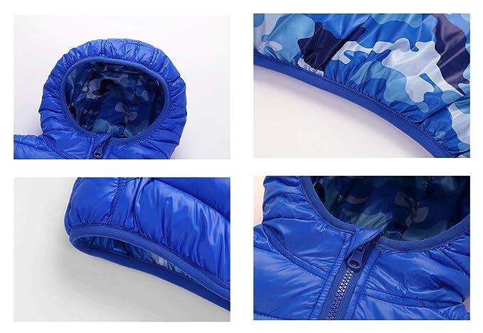 ZIHUOKIJ Chicos de Invierno Camuflaje de Invierno Grueso Abrigo de Abrigo cálido Abrigos Size 110 (Red): Amazon.es: Ropa y accesorios