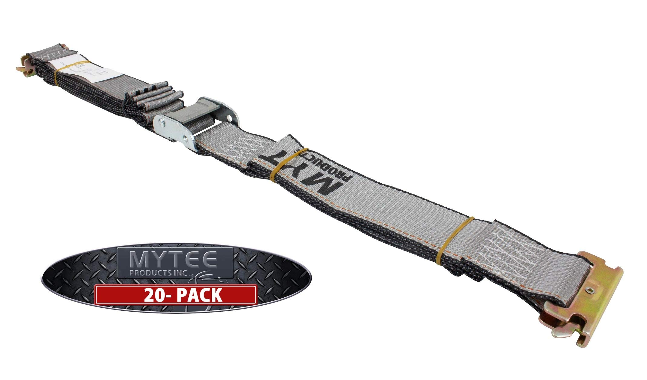 Mytee Products (20 Pack) E Track Cam Buckle Straps 2'' x 16' Logistics Strap Van Cargo Trailer