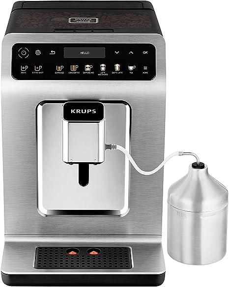 Krups Evidence EA894T - Cafetera (Independiente, Máquina espresso, 2,3 L, Molinillo integrado, 1450 W, Titanio): Amazon.es: Hogar