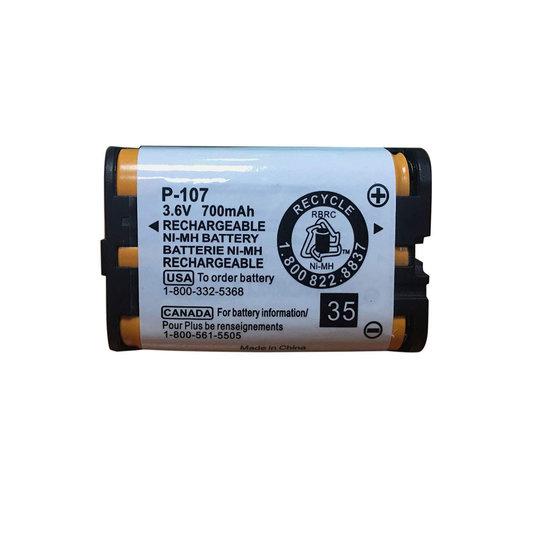 GEILIENERGY 3HHRP107 Rechargeable Batteries Compatible with for Panasonic HHR-P107 HHR-P107A HHRP107A Cordless Phone 3.6v 700mAh Ni-MH(1 Pack)