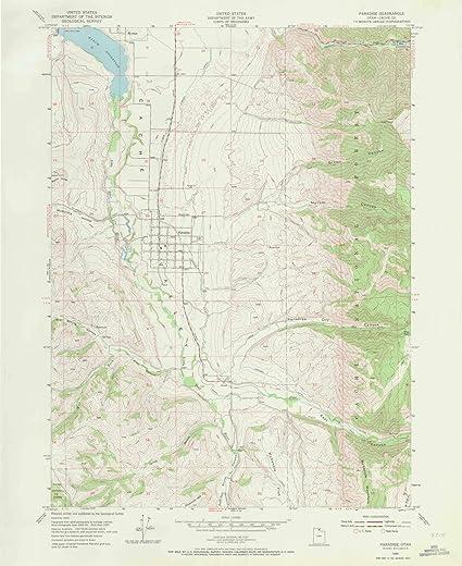 Paradise Utah Map.Amazon Com Yellowmaps Paradise Ut Topo Map 1 24000 Scale 7 5 X