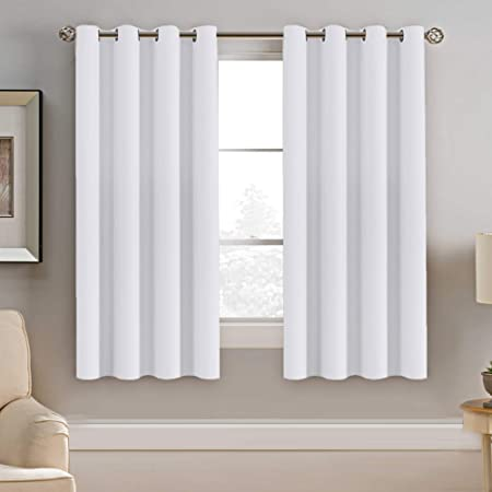 Amazon.com: H.VERSAILTEX White Window Curtains 63 Inch Length