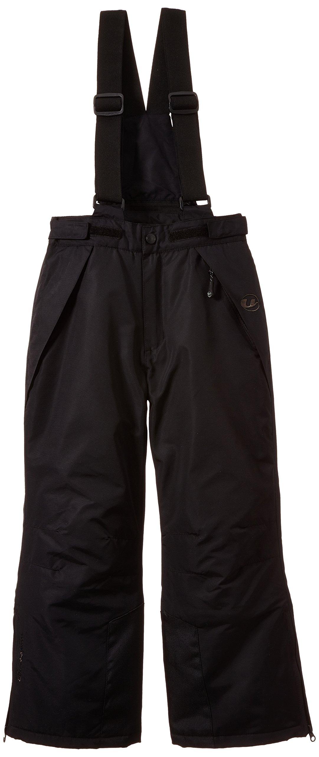 Ultrasport Pantalon de Ski et de Snowboard pour Enfants - Pantalon de Ski Filles et Garçons en Noir - Pantalon Sports d'Hiver Imperméable avec Bretelles, Noir product image