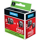 Dymo D1 Labels For LabelManager Printers, 12 mm x 7 m, Black Print on White, Special Pack 2 + 1 Rolls