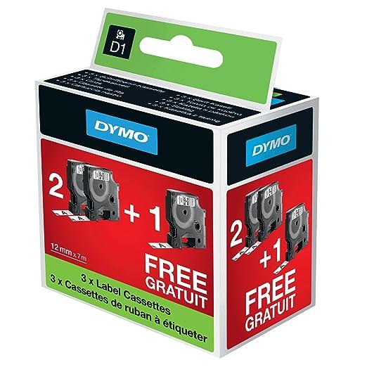 83 opinioni per Dymo D1 etichette per stampanti LabelManager, 12 mm x 7 m, nero su bianco,