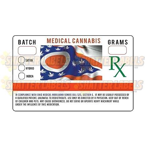 Amazon com: 250 Ohio OH State Medical Marijuana Cannabis SB