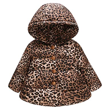 01ee85f39 Amazon.com: Toddler Coat Clearance! Iuhan Girls Boys Winter Leopard ...