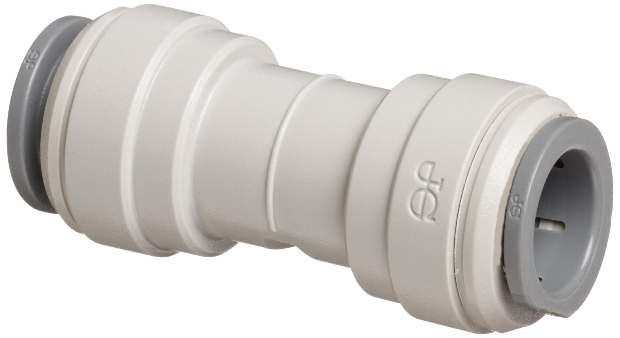 John Guest Acetal Copolymer Tube Fitting, Union Straight Connector, 1/2'' Tube OD (Pack of 10)