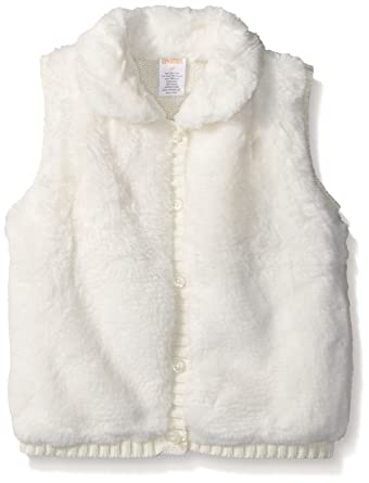 2a09a1eae4719 Gymboree Toddler Girls White Faux Fur Button-up Vest