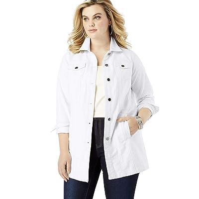 Roamans Women's Plus Size Long Denim Jacket at Women's Coats Shop