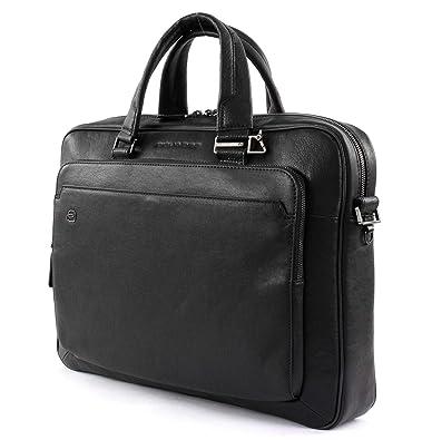 prodotti di qualità ampia selezione nuovo stile e lusso Piquadro Black Square Briefcase leather 40 cm Notebook ...
