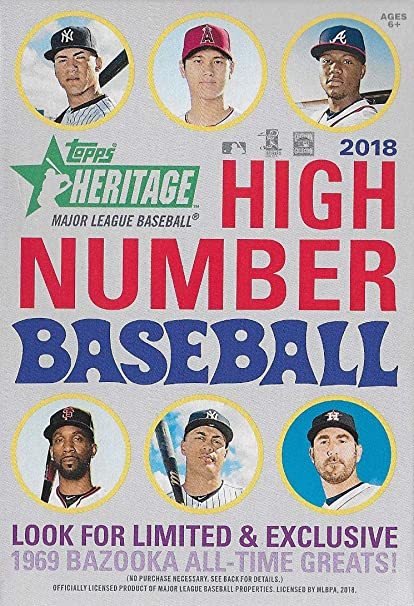1 Pack//35 Cards 2018 Topps Heritage High Number Baseball Hanger Box