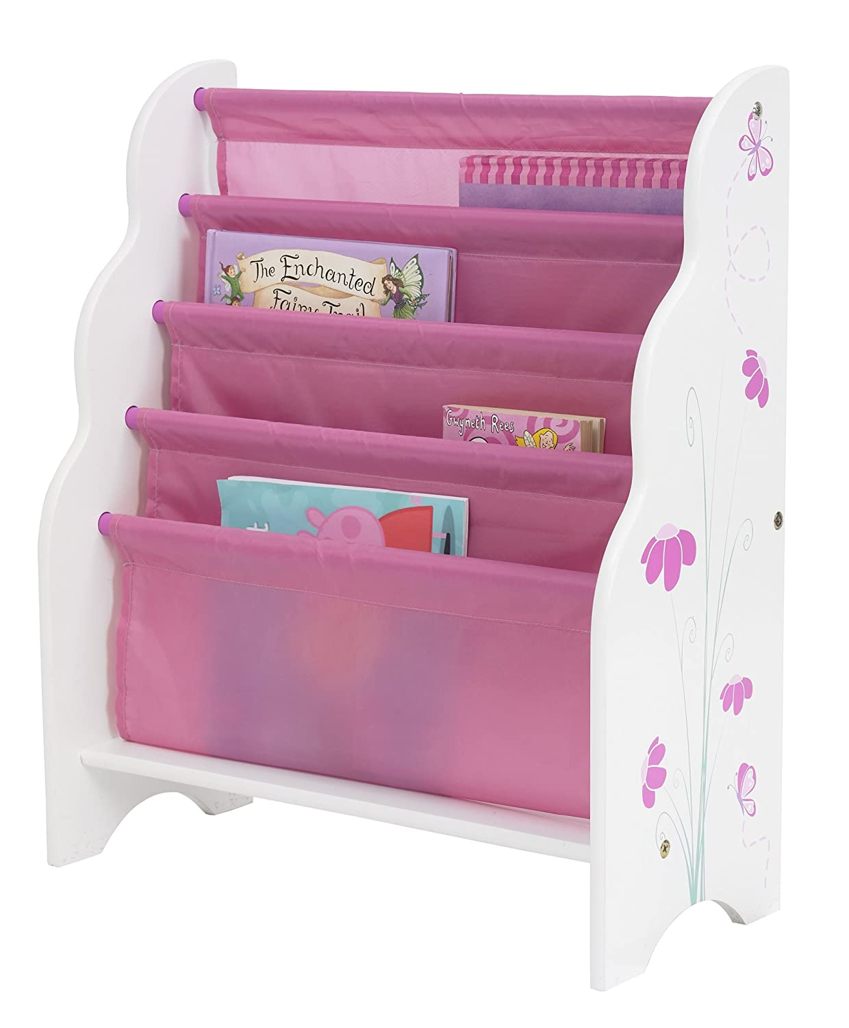 hellohome butterflies and flowers kids u0027 bookcase amazon co uk